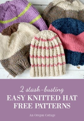 2 Stash-Busting Knitted Hat Patterns -31 Days of Handmade Gifts