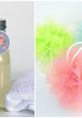 DIY Body Wash with Shower Pouf -31 Days of Handmade Gifts