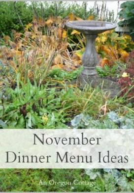 November Dinner Menu Ideas