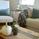 Simple Fall Decor in Moss Green and White