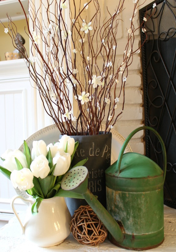 DIY flowering branches Easter decor at My Soulful Home