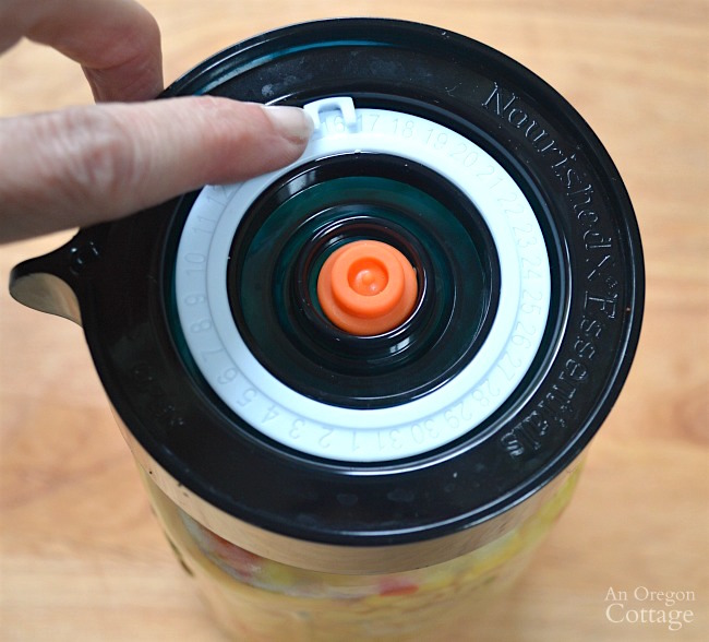Easy Fermented Corn Relish-setting date on lid