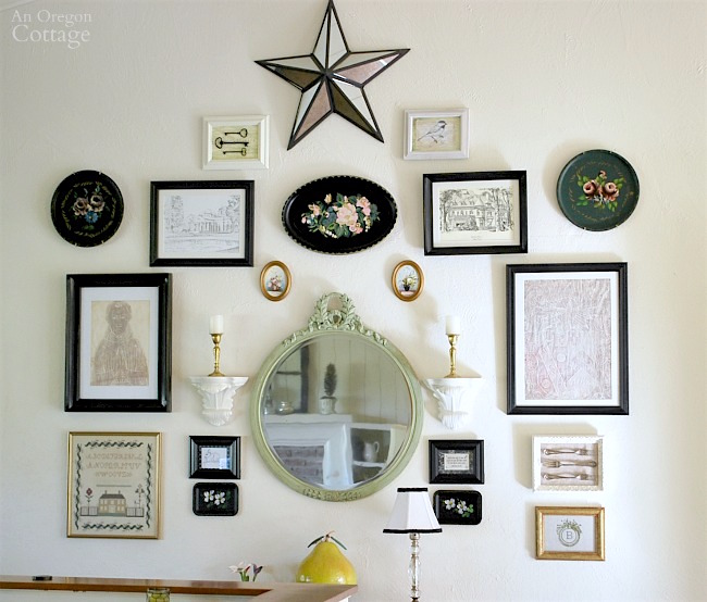 Eclectic Gallery Wall with Black Frames