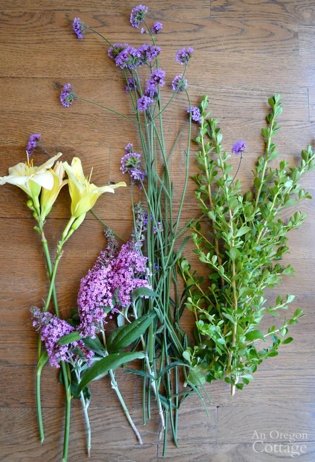 Summer Gardening-backyard flower harvest