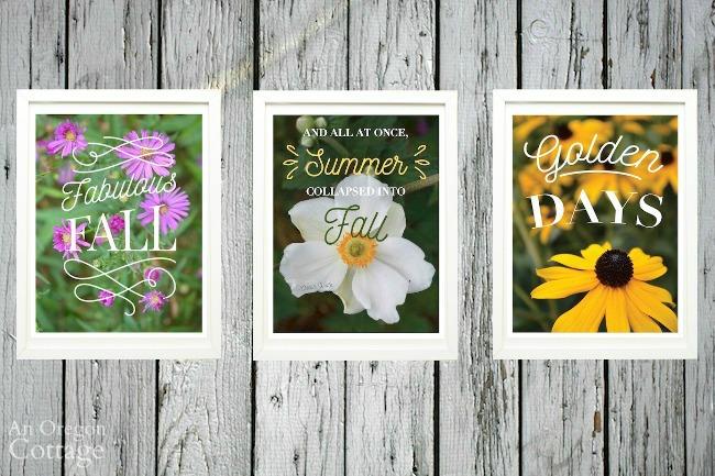 Floral Fall Printables Framed
