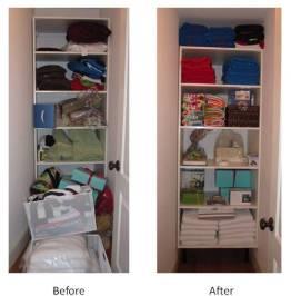 Closet Before & After (June 2010)