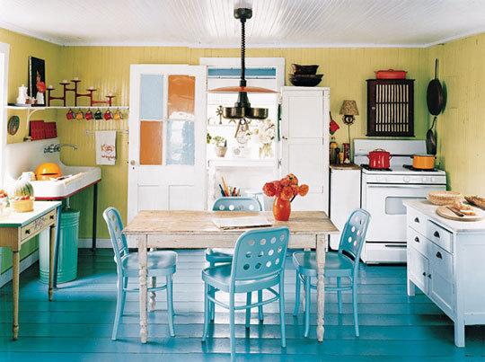 Pintar o chão com cor