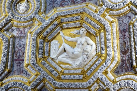 Doge's Palace, ceiling detail on the Golden Staircase