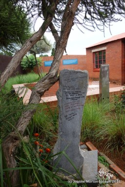 Back side of Nelson Mandela home