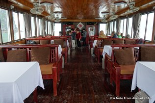 Boat interior where we were served lunch