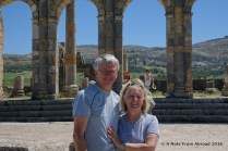 Tim and Joanne at Volubilis