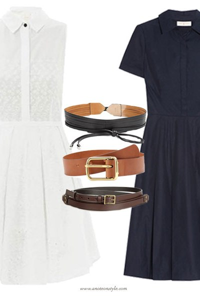 A Belted Shirtdress