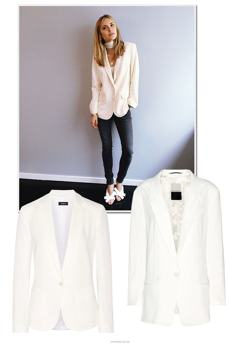 Investing in A Year Round Classic: The Soft, White Blazer