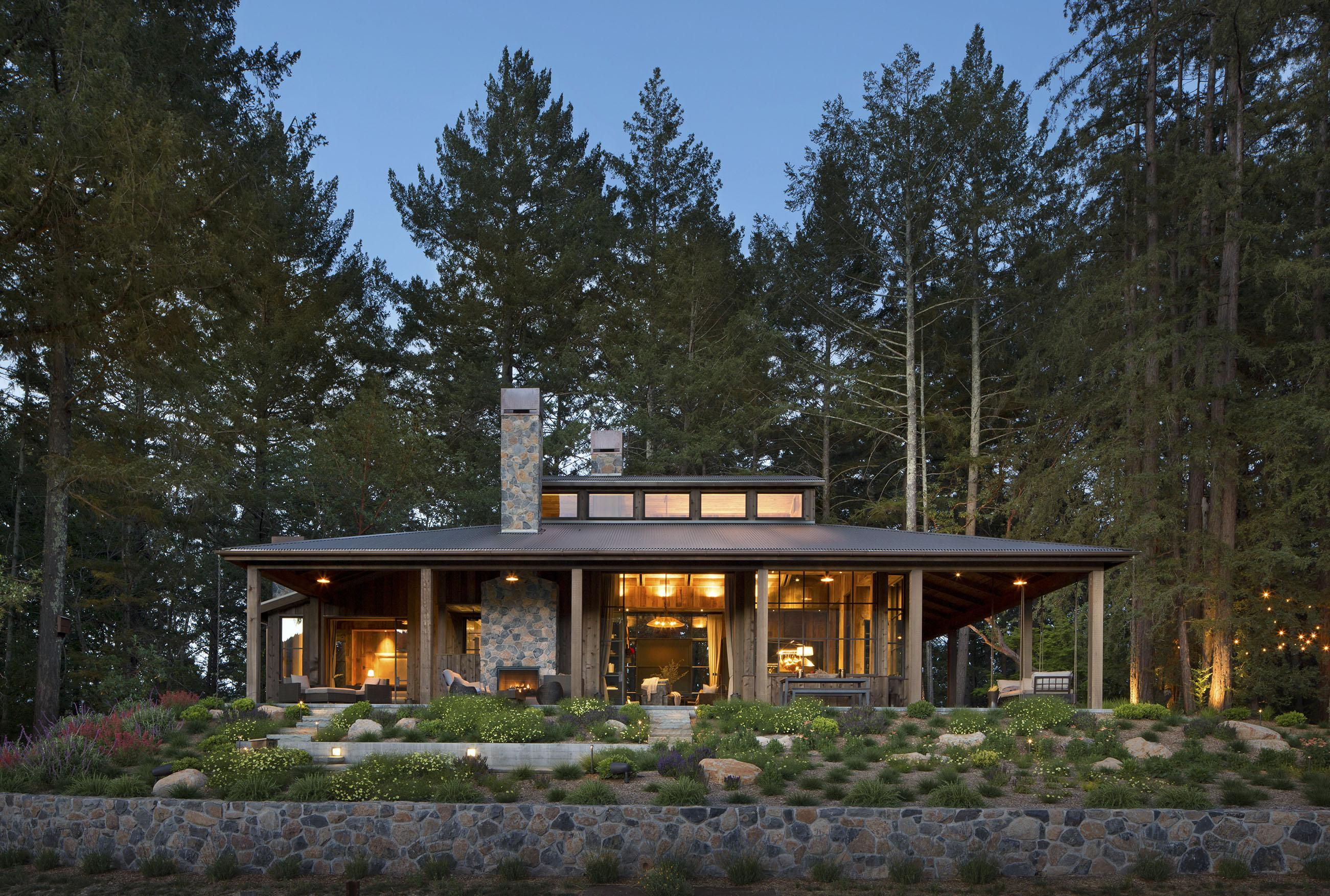 House Tour A Modern Cabin in St Helena