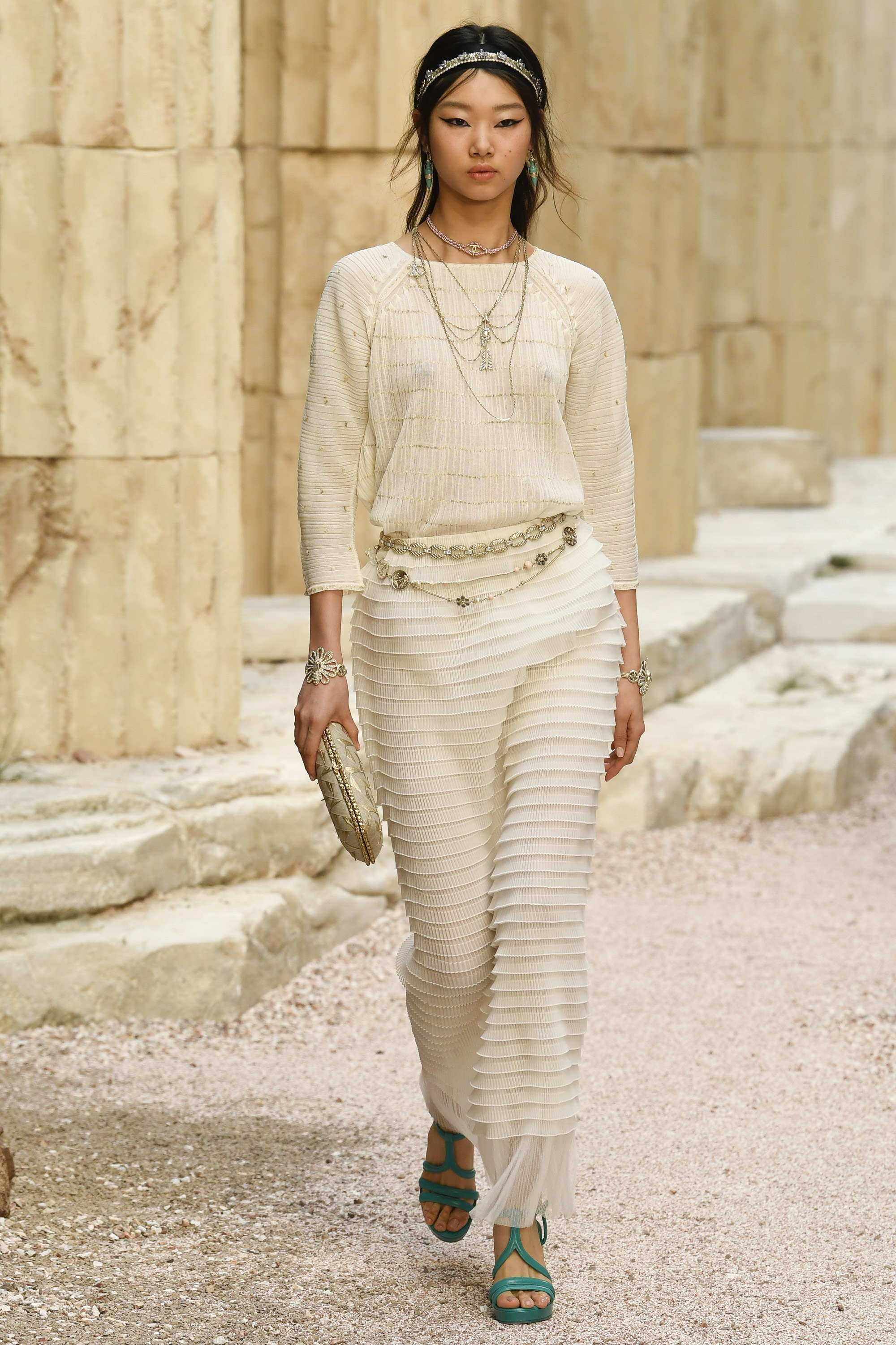 Pleating at Chanel Resort 2018