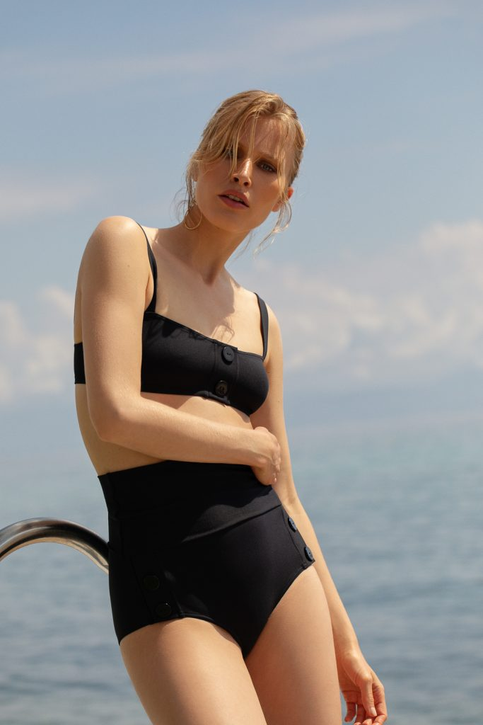 The Key to Wearing A High Waist Swimsuit