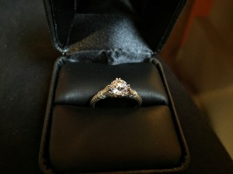 Antique Engagement Ring top