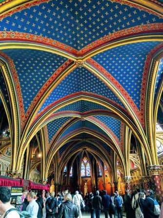 Sainte Chapelle Paris arch ceiling
