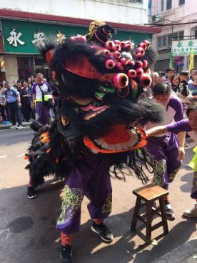 Lion Dancer at Hung Shing Festival