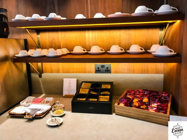 Cathay Pacific First Class Lounge Heathrow food restaurant dining champagne review