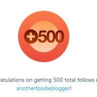 500 WordPress Followers ~ THANK YOU!