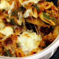 Sausage and Spinach Pasta with Homemade Ricotta