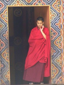 Monk, Bumthang, Bhutan