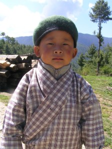 Village boy, somewhere near Ura, Bhutan