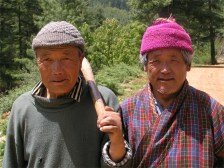 Labourers, on road near Punakha, Bhutan