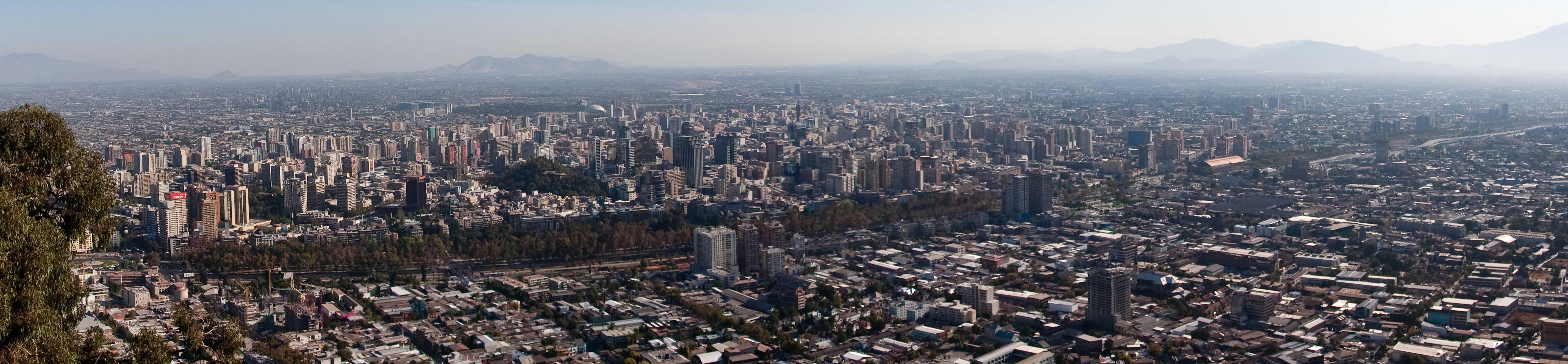 Panoramic view of Santiago from Cerro San Cristobal