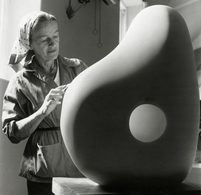 Barbara Hepworth at Trewyn Studio, 1961, Photograp