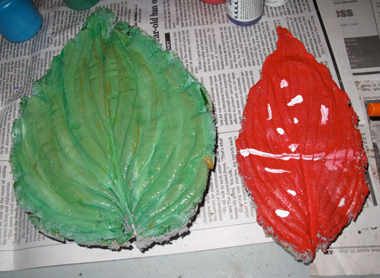 concrete leaves project step 9