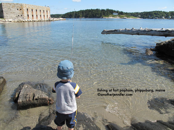 fishing at Fort Popham