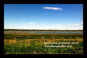 back cove, portland, maine