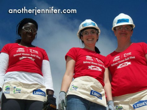 I participated in National Women Build Week last year in Freeport, Maine.