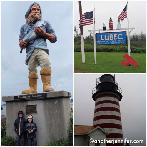 We visited the towns of Eastport and Lubec while it rained. We even crossed over to Canada for a short visit Campobello Island.