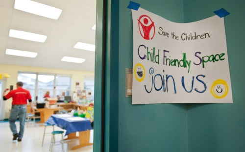 Save the Children set up a child friendly space at the Reed Intermediate School in Newton following the tragic shooting at the Sandy Hook Elementary School. (photo credit: Save the Children)