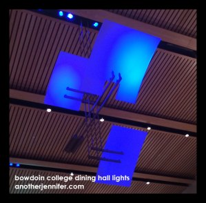 Wordless Wednesday: Bowdoin College Dining Hall Lights