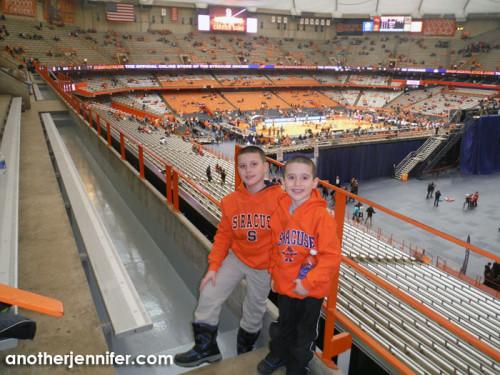 G and Biz in their new Syracuse Orange gear.
