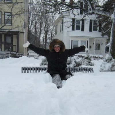 Here I am after surviving my first blizzard!