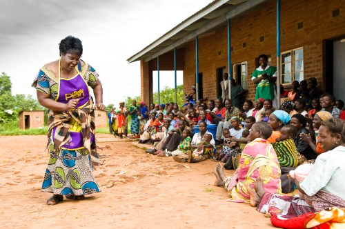 Aggie Phiri from Zambia. She is a peer educator who goes into communities and teaches women about long-acting reversible contraception like IUDs. She has a great story! http://www.psi.org/aggie You can see her doing her dance in one of the pics. (photo credit: PSI)