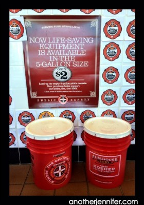 Pickle buckets at Firehouse Subs cost just $2 and the money goes to their public safety foundation.