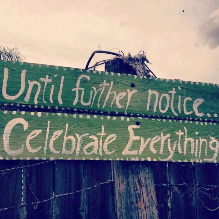 Wordless Wednesday (12.31.14): Celebrate Everything