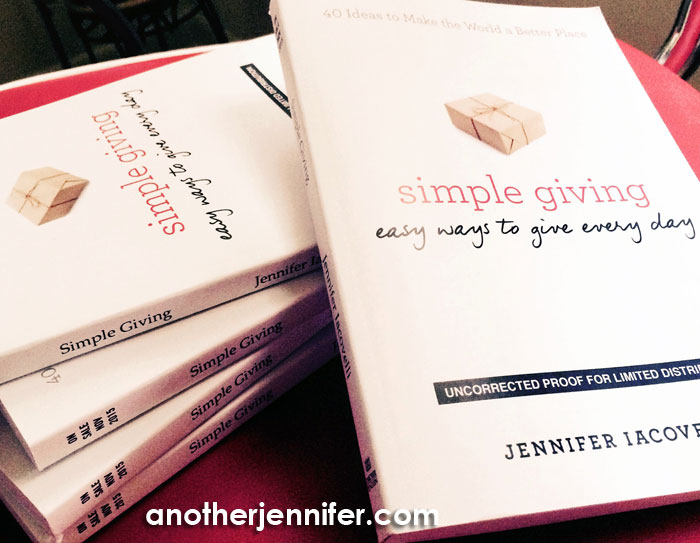 I got the galley proofs of Simple Giving from my publisher. Not the final product, but very very close!