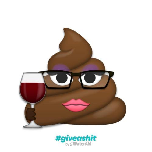 WaterAid #GiveAShit emoji