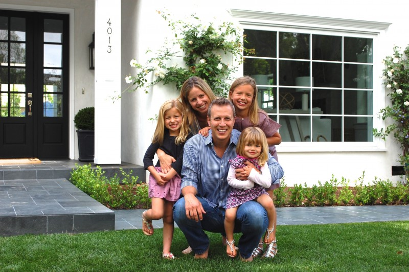 David Tobias and his family
