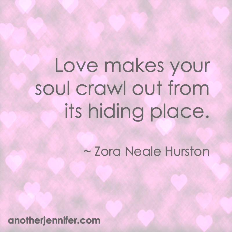 Wordless Wednesday: Love makes your soul crawl out from its hiding place.