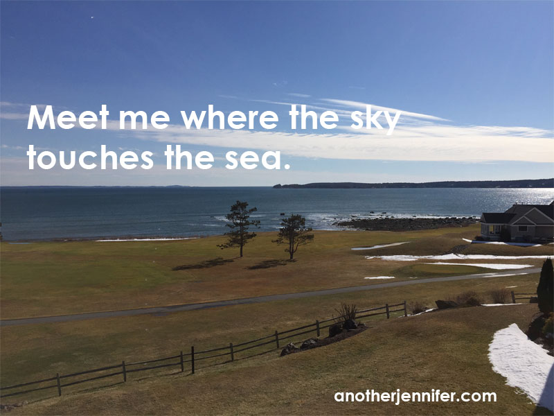 Wordless Wednesday (2.24.16): Meet me where the sky touches the sea by Jennifer Iacovelli