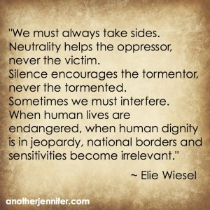 Philanthropy Friday: Honoring Elie Wiesel and Interfering
