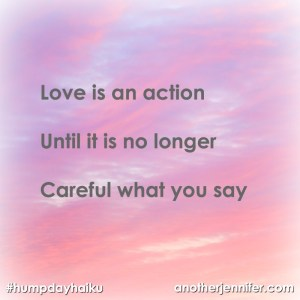 love is an action haiku